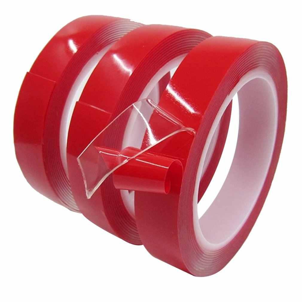 1 Roll Panjang 3 M Super Double Tape Kuat Perekat Lem Transparan Tidak Ada Bekas Stiker untuk Rumah Mobil Kamar Tidur taman