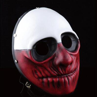 High grade Payday 2 Wolf Resin Masks Halloween Party Cosplay Masks Men joker Masquerade Dress Prop Festive & Party Supplies