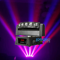 Free Shipping 5x10W RGBW / White Led Beam Strobe Light Moving Head Disco Bar Color Wash Lighting Wedding DJ Equipment Proyector
