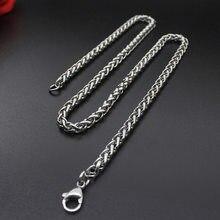 5a5c2121493f Zuowen coreano estilo étnico de los hombres collar de titanio de acero  inoxidable de moda collar