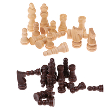 32pcs International Table Board Game Set Chessman Checkers Wooden for Draughts Chess Pieces Entertainment Games
