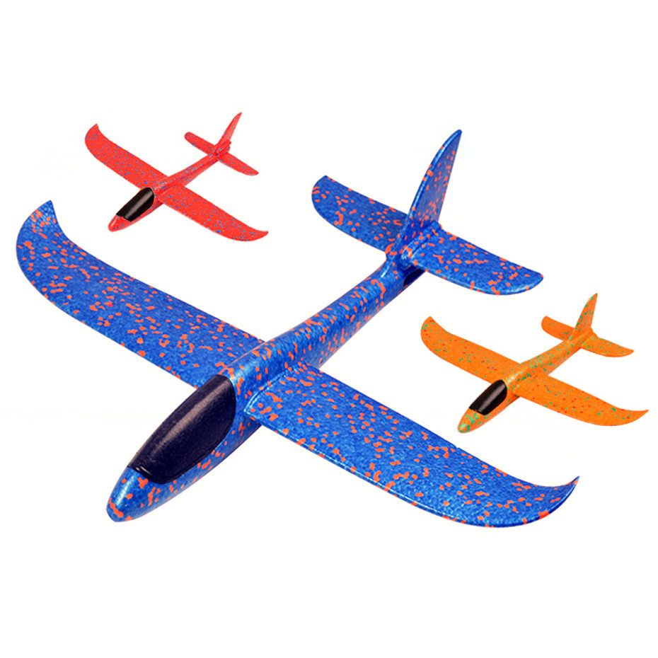3 Color Airplane Hand Launch Throwing Glider Aircraft Inertial Foam EVA Airplane Toy Plane Model Outdoor Toy Educational Toys image