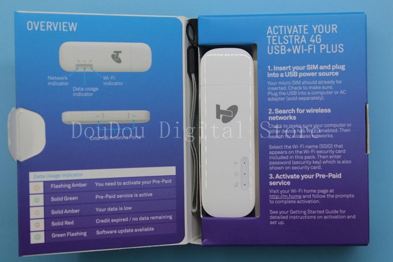 Unlocked New Huawei E8372 E8372h-608 with Antenna 4G LTE 150Mbps