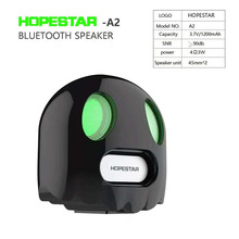 Smart Bluetooth speakers super bass stereo Halloween gift innovative ghost design portable MINI TF card phone HD call voice tips