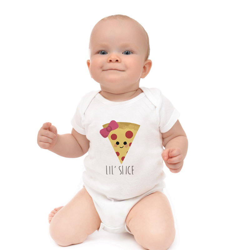 HY0058 Summer Baby Clothing Funny Pizza Sunglasses Bow Food Pun Baby Onesie Bodysuit