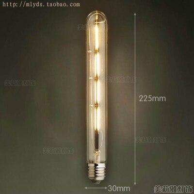 4 Вт E27 220 В светодиодный светильник для декора, лампада Эдисона, винтажный декоративный светильник с ампулами T10 G80 G95 ST64 T225 T30 - Цвет: Розовый
