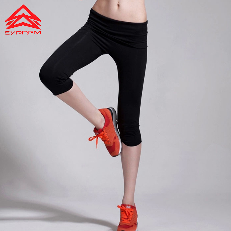 Sports yoga Pilates cropped pants legging Tights Trouser women 2016 New Running Gym Fitness Exercise Breathable flexible elestic