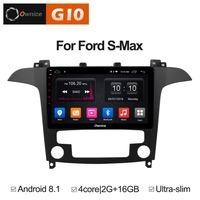 9 inch Android 8.1 Quad 4Core 2GB RAM+16GB ROM Car DVD Player For Ford S Max 2007 2008( AT) GPS Navi Radio Stereo BT TPMS DAB+