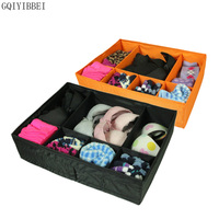 Gqiyibbei للغسل أكسفورد طوي صندوق تخزين لل الملابس الداخلية الصدرية ربطة الجوارب مقسم أصحاب الحاويات organizador