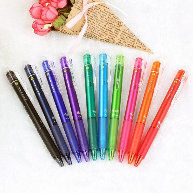 Stylo Gel pilote le bureau du FriXion stylo presse effaçable magique multicolore stylo à encre Gel Touchable stylo ressurgit 0.5mm LFBK-23E