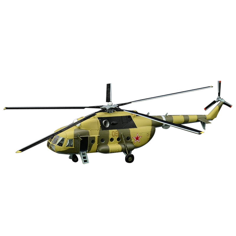 Pre-built 1:72 Mi-8 Hip Medium Twin-turbine Helicopter Hobby Collectible Finished Plastic Aircraft Model