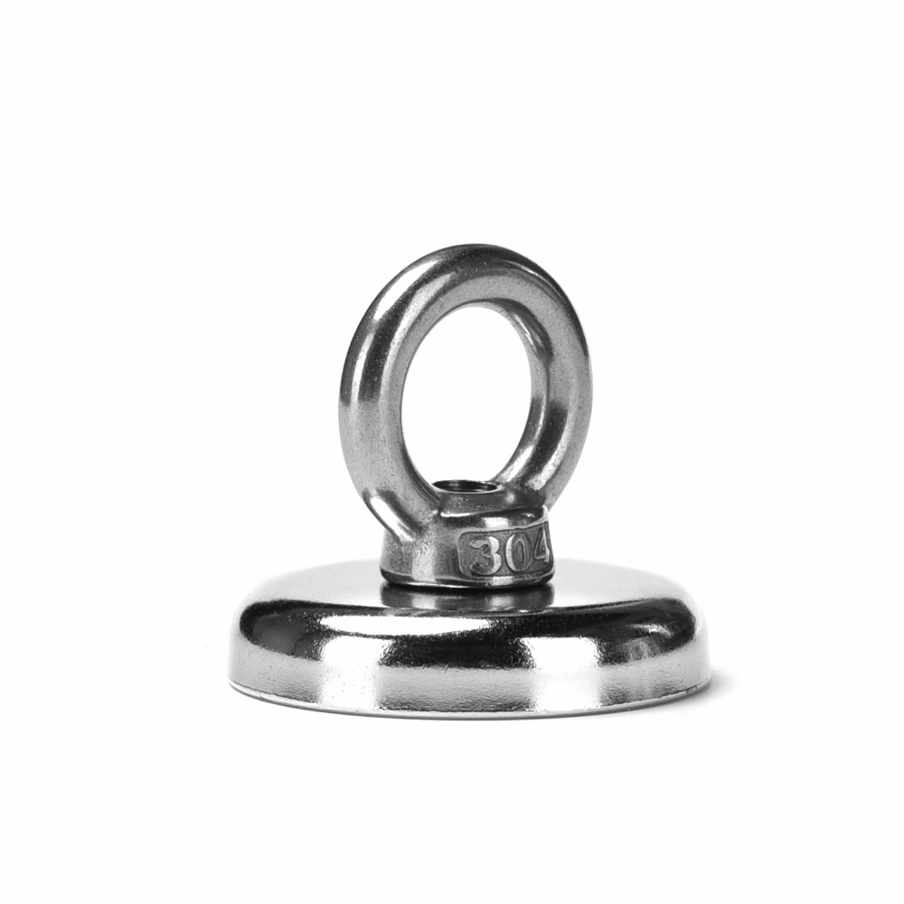 2pcs 68kg Pulling Mounting D42mm strongest powerful neodymium Magnetic Pot with ring fishing gear,deap sea salvage equipmentsD422pcs 68kg Pulling Mounting D42mm strongest powerful neodymium Magnetic Pot with ring fishing gear,deap sea salvage equipmentsD42