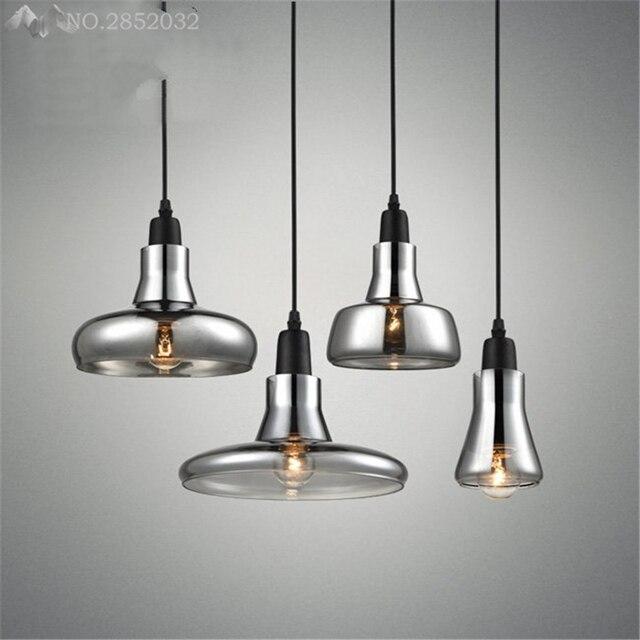 Moderna lámpara colgante país americano luz colgante E27 vidrio para ...