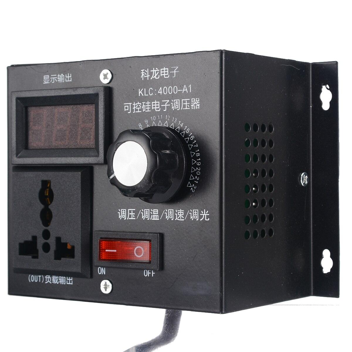 controlador de tensao variavel eletronico alta qualidade 220v 4000w para motor de ventilacao controle de velocidade