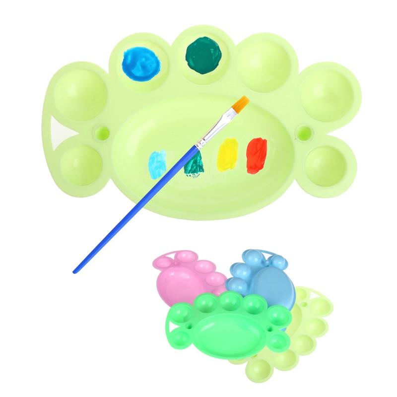 1pcs Paint Tray Cute Art Alternatives Paint Tray Artist Oil Watercolor Plastic Palette Supply