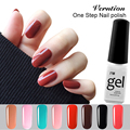 Verntion Soak Off UV 24Color Glitter 3 in 1 lucky Gel Varnish Professional One Step Nail Gel Polish Foil Adhesive Thermal Gel
