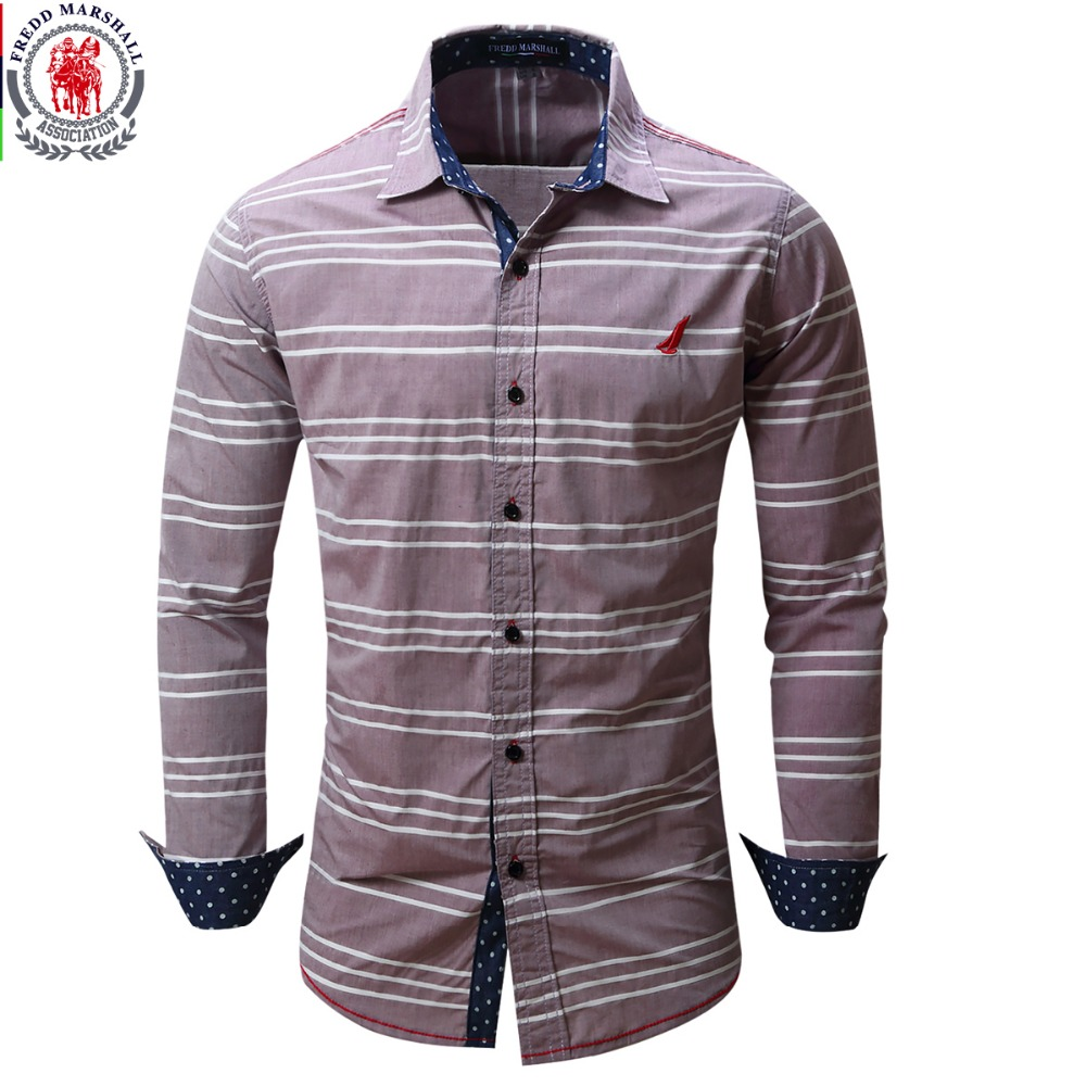 2017 new arrival men 39 s shirt long sleeve striped shirts for Top dress shirt brands