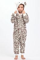 Leopard Cat Lion Unicorn Donkey Children Kids Flannel Animal Pajamas Anime Cartoon Costumes Sleepwear Cosplay Onesies
