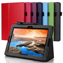PU leather case cover For Lenovo A7600 Tab A10-80HC A10-70HV A7600F 10.1'' Stand tablet cover Fundas Case Cover(China)