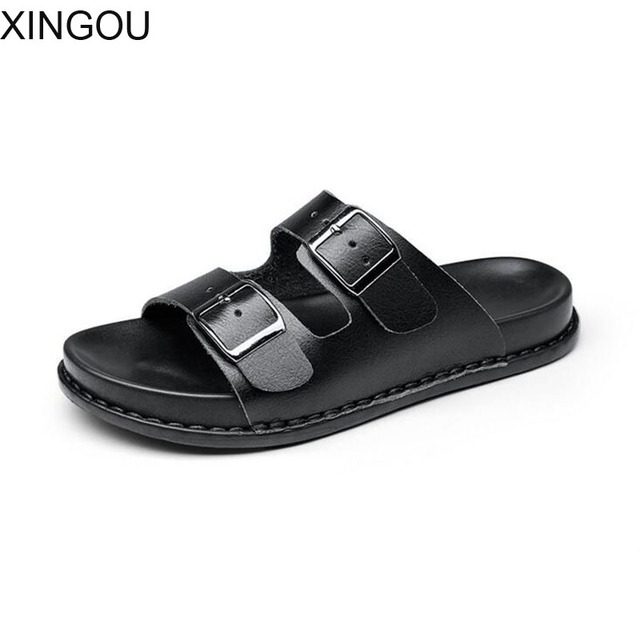 a40b9e8df2d8c Fashion 2017 soft bottom belt buckle female slippers new spring beach slippers  women flat ladies cool slippers and sandals