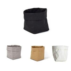Чехол для мини-суккулентов из крафт-бумаги, моющиеся мешки для хранения цветов и горшков, детская комната, органайзер для мелочей