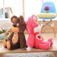 Big Size100CM Game LOL Brown Tibbers Plush Toys Doll Cute Pink Annie's Bear Plush Soft Stuffed Toys for Children Kids Gifts