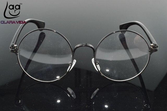 595ce15f85d Retro Vintage Alloy Large Round Glasses Frames Custom Made prescription  lens myopia reading glasses Photochromic lenses