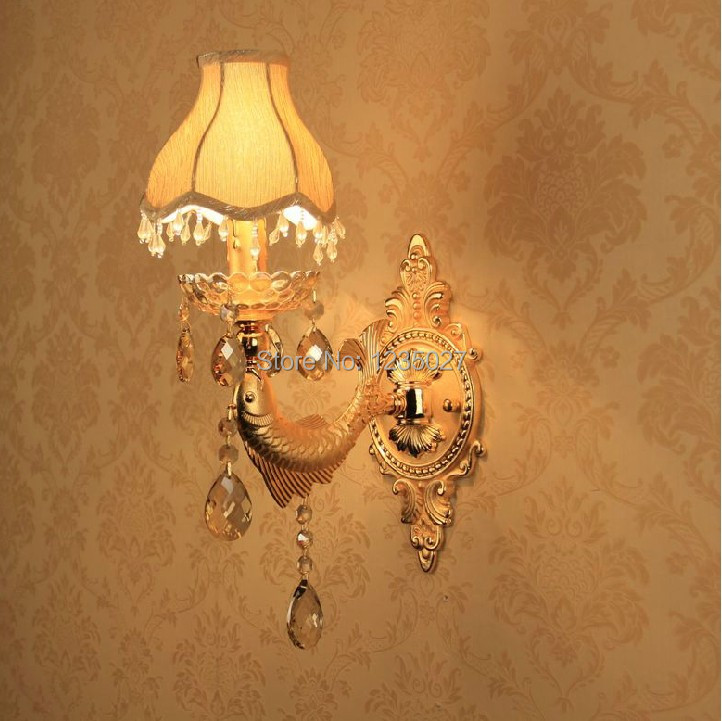 ФОТО Free shipping EU style Alloy Single side E14 candle bulb silver Wall mounted Indoor crystal wall lamps lighting