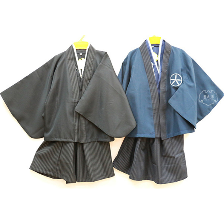 Japanese Style Suit for Boys Japanese Kimono Sets Children Clothes Samurai Clothing Boys Costumes Yamato National