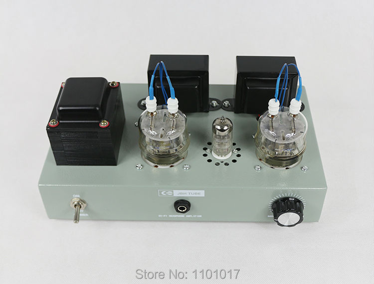 JBH 6n2 FU32 tube amplifier HIFI EXQUIS headphone output Handmade scaffolding lamp amp Green version
