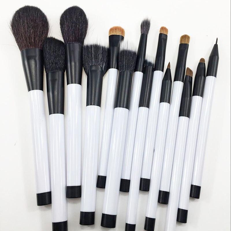 14Pcs Wool Makeup Brushes Tools Foundation Blush Eye Shadow Blending Cosmetic Beauty Make Up Brush