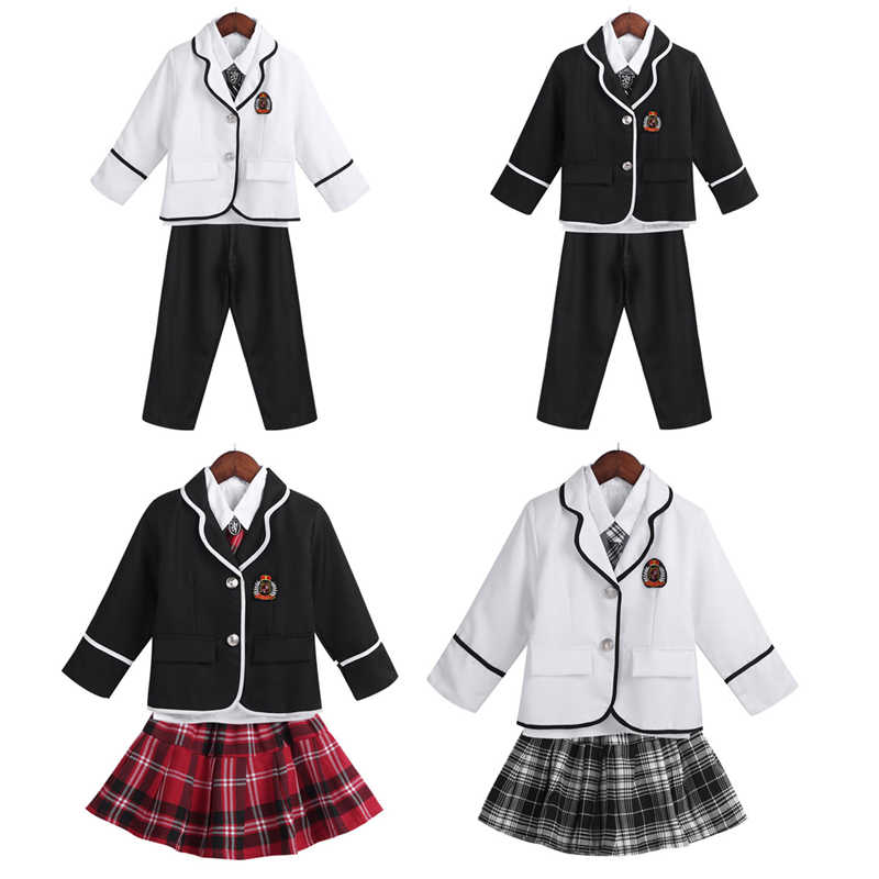 pretty nice feb65 a081f Detail Feedback Questions about Kids Japanese Student School Uniforms Set  Suit for Girls Boys Coat Shirt Pants Skirt Tie Clothes 4 12Y School Student  ...