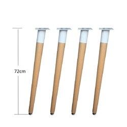 4 teile/los 28 ''Solid Holz Tisch Möbel Beine Füße Klammern Eisen Rahmen Buche Beine Armaturen Esstisch Computer Schreibtisch