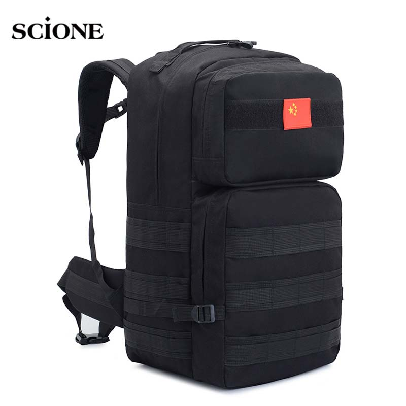 50L Camping Rucksack Tactical Backpack Military Molle Backpacks Hiking Outdoor Bag Mohila Army Sports Bags Trekking XA660WA