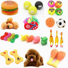 Toy Squeaky-Toy Dumbbell Rubber Puppy-Sound Screaming Chicken-Bone Slipper-Chewing Pet-Dog-Cat
