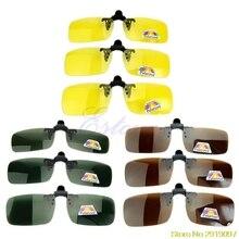 Новые поляризованные солнцезащитные очки с откидывающейся линзой для дневного и ночного видения, очки для вождения, Прямая поставка, поддержка