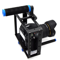 DSLR Camera Aluminum Cage W 15mm Rod Rig Top Handle Kit For Canon 5D Mark
