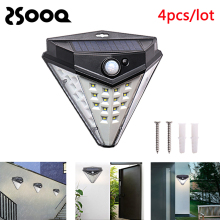 32Leds 1-4pcs Garden Solar Lamp Outdoor Diamond Shape Led Bulb PIR Motion Sensor Sola Powered Wall Light Night Emergency LSL122