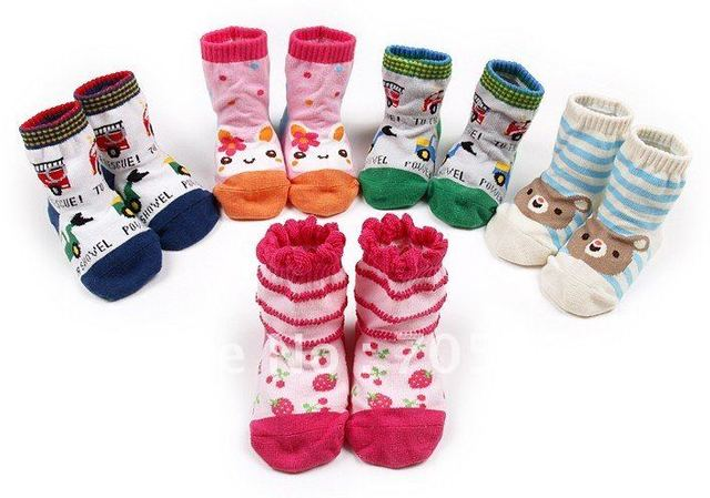 New wholesale! Express Free shipping 100% cotton top quality Anti-slip baby's socks infant's socks 30pairs/pack
