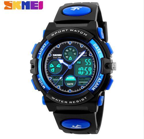 Skmei Fashion Casual Quartz Digital Sports Watch Waterproof Multifunction Children Watches For Boys Girls Students Wristwatches