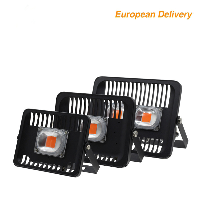 Grow Floodlight Full Spectrum Waterproof IP66 High Power Outdoor Lighting 30W 50W 100W 220V With EU Plug Connector Growth Light