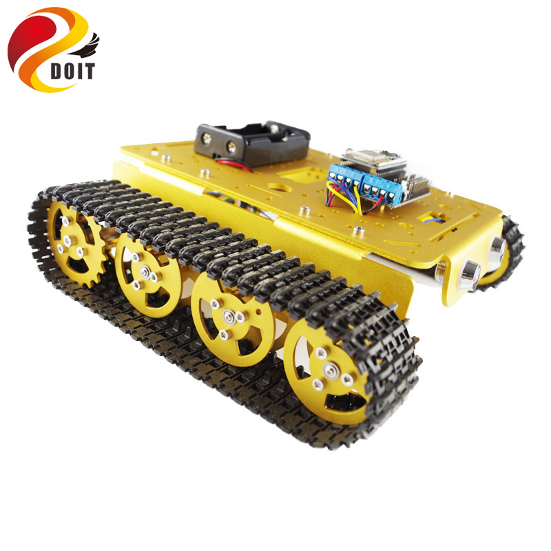 DOIT rc kit T200 Wireless Tank Chassis Controlled by Android and iOS Phone based on Nodemcu ESP8266 Development Kit DIY RC Toy