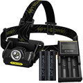 Nitecore HA20 waterproof CREE LED Headlamp Full Metal Uniboy Wide-beam Optics AA Portable +2*AA Rechargeable battery+D2 Charger