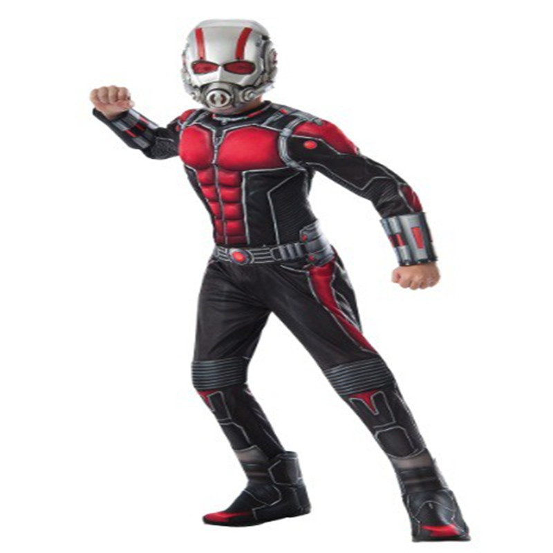 Ant-man Muscle Costume Boys Halloween Superhero Fancy Dress Outfit For Halloween party supply