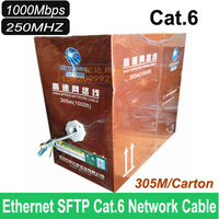 Premium Quality Ethernet Cat6 SFTP Network Cable Lan Internet Cable Wholesales 320Feets 100M Lots Free Shipping