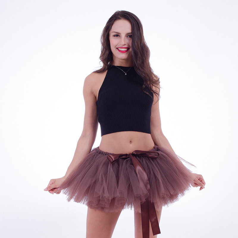 Sommer Frauen Rock 2018 Midi Dance Tutu Sexy Mini Tüll Rock Puffy Kurzen Rock Elastische Taille für Party Faldas Mujer Saias Jupe