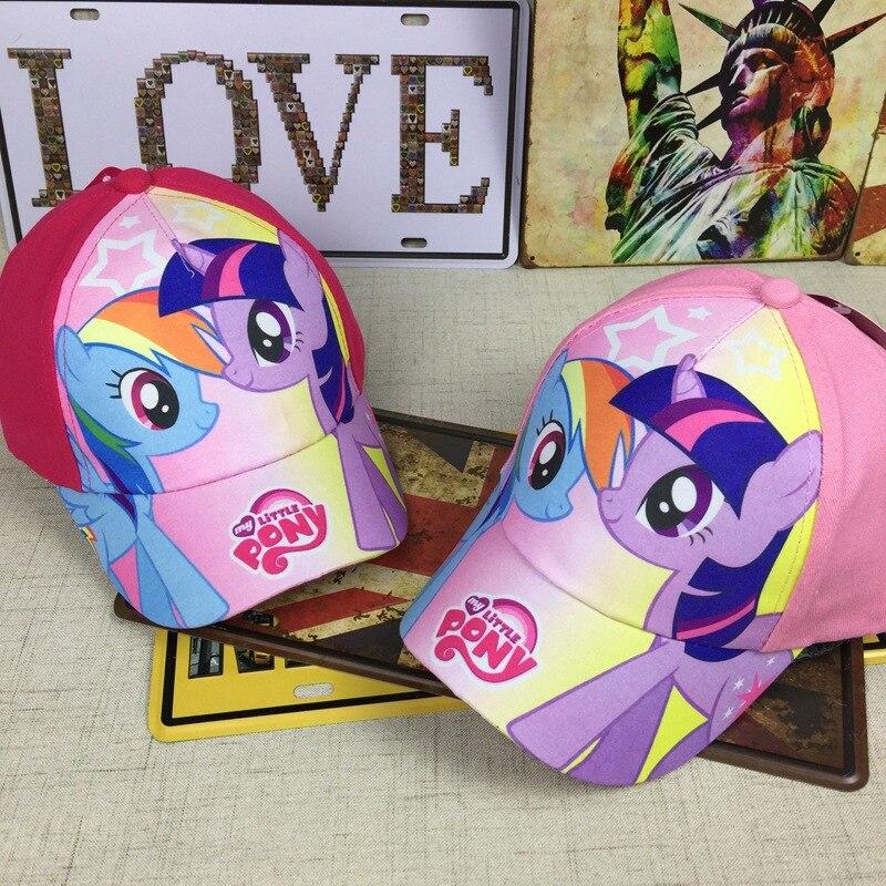 Janvancy Girls Baseball Caps My Little Pony Children Kids Girl Snapback Hats Cartoon Cool Child Girl's Sunshield 4-8 Ages