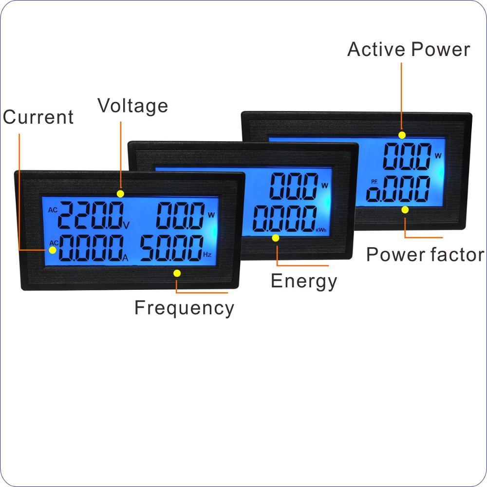 Yb5140dm Lcd Digital Voltmeter Ammeter 80 260v Voltage Current Meter Power Factor Circuit