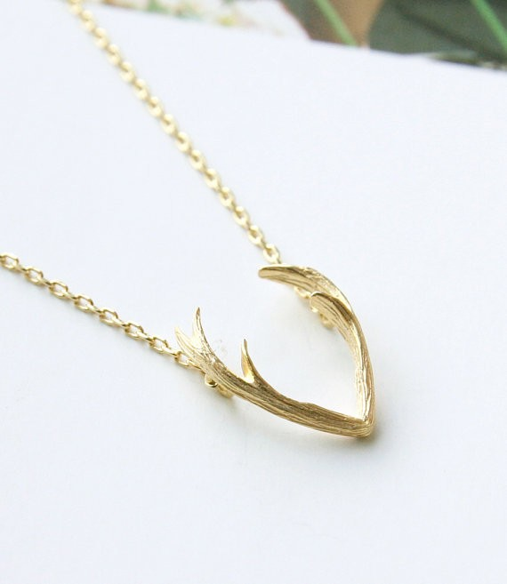 Shuangshuo antler necklaces pendants for women minimalist for Women s minimalist jewelry
