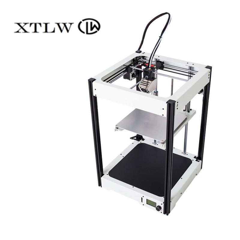 2018 Mais Novo 3D impressora de Grande 220*220*290mm moldura de Metal de Precisão de Alta Qualidade kit DIY LCD Ultimaker2 UM2